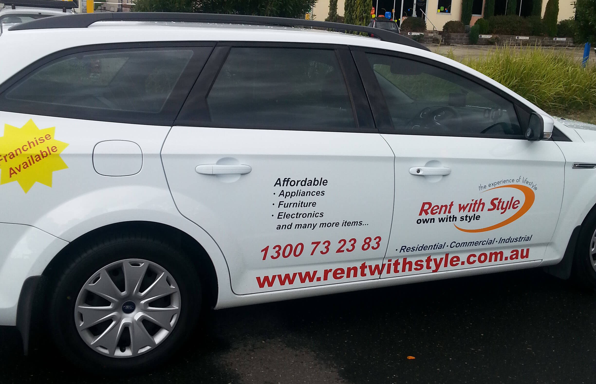 Car image with rent with style logo
